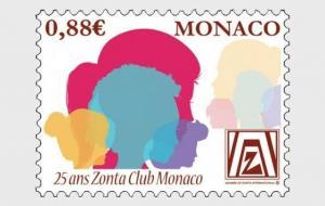 H01 Monaco 2019 25th Anniversaries of the Zonta Club Monaco MNH Postfrisch