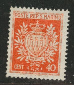 San Marino Scott 244 MH* from 1945-46 Arms  set