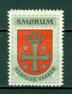 Denmark. Poster Stamp 1940/42. Mnh. District: Smorum. Coats Of Arms. Cross,Crown