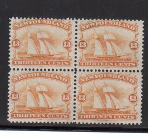 Newfoundland #30 NH Mint Block **With Certificate**