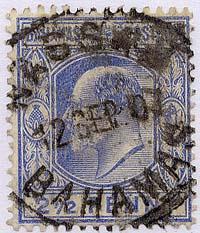 Bahamas Scott #46 Used - 1907 Edward 2 and a Half Penny Ultramarine