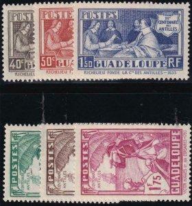 Guadeloupe 1935 SC 142-147 Mint Set