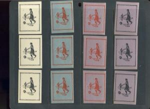 12 VINTAGE SOCCER POSTER STAMPS (L690) SPORTS FIFA RELATED