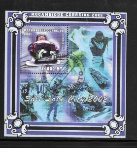 Mozambique #1443 CTO 2001 Winter Olympics Salt Lake City Souvenir Sheet