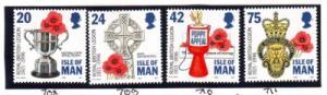 Isle of Man Sc 706-9 1996 75 years Legion stamp set mint NH