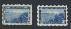 2x Canada stamps 2x #242-13c Halifax Harbor MH VF & MH F/VF Guide Value = $30.00