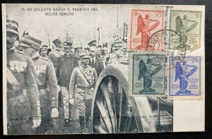1921 Rome Italy Real Picture postcard Cover The King Follows Coffin Of Soldier B