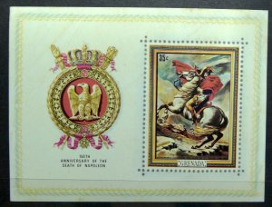 GRENADA 1971 SC# 415a Imp Souvenir Sheet 150th Anniv. Death Of Napoleon MNH