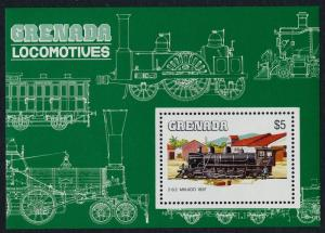 Grenada 1241 MNH Trains, Locomotive, Architecture