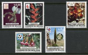 [SOLD] BOLIVIA SCOTT#782-6 FLOWERS OLYMPICS MINT NEVER HINGED CATALOG VALUE $17.