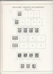 Minkus Hungary Pages for Post World War 1 Occupation Stamps