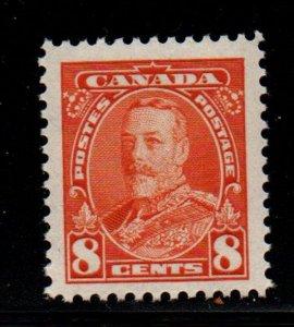 Canada Sc 222 1935 8c deep  orange George V stamp mint NH