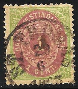 Danish West Indies 1874 Scott# 5 Used