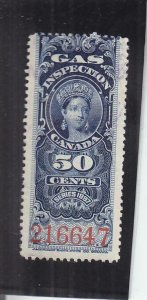 Canada: 50c Gas Inspection Tax Stamp, Used, FG19 (14678)