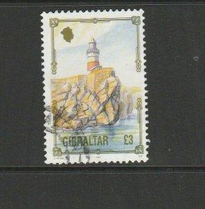 Gibraltar 1993/5 Architecture defs £3 FU SG 707
