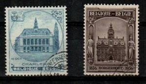 Belgium Scott B178a, B179a Used (Catalog Value $90.00)