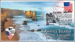 18-082, 2018, Apostle Islands, Pictorial Postmark, National Lakeshore, Event Cov