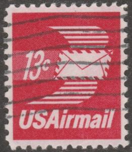 USA stamp, Airmail, Scott# C-79, used, flying envelope, red wings, #mao30