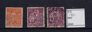 German Empire  used 1921 SG 160 & 188
