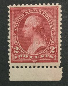 MOMEN: US #249 MINT OG **NH** POST OFFICE FRESH #31102
