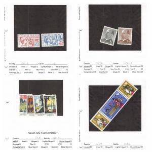 Lot of 54 Germany DDR MNH Mint & MH Stamps Scott Range 1101 - 1193 #141367 X R