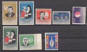 J27649 1964 paraguay set mnh  #828-35 designs