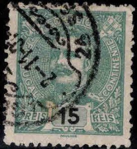 PORTUGAL Scott 114,Used King Carlos stamp