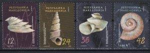 Macedonia 2006 Sea shells 4 MNH stamps