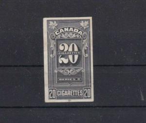 CANADA IMPERF CIGARETTE TAX STAMP . REF 1933