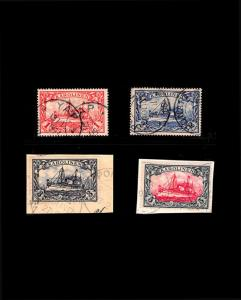 VINTAGE:CAROLINE IS- GERMAN 1901  USD LH  SCOTT # 16-19 $850 EST LOT 1901X420