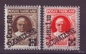 J12497 JLstamps 1931 vatican mnh hv,s of set #j5-6 ovpt,s approx $210.00 scv