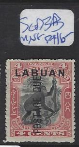 LABUAN  (PP2307B)   POSTAGE DUE   4C MONKEY SG D3B   MNG