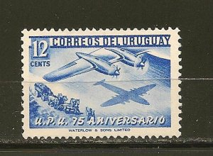 Uruguay 600 Plane and Stage Coach Mint Hinged