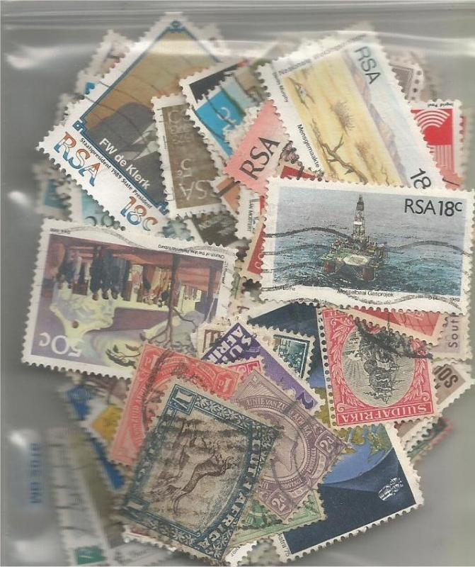 SOUTH AFRICA, used/mint mixed x100 (all different).4