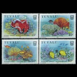 TUVALU 1988 - Scott# 465-8 Marine Life Set of 4 NH