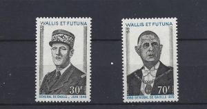 Wallis & Futuna Islands,177-78,Charles DeGaulle Sgls,**MNH**