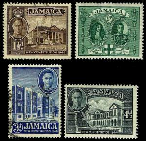 1946 Jamaica Perf Variations - Mostly Used - F/VF+ - CV$22.75 (ESP#3534)