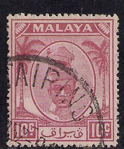 Perak Malaya 1950 - 56  10ct Purple Yussuf SG 136 ( H600