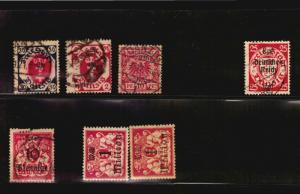 Varieties Error Perfin etc 6 stamps from Germany Freie Stadt Danzig used