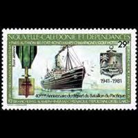 NEW CALEDONIA 1981 - Scott# C174 WWII Ship Set of 1 NH