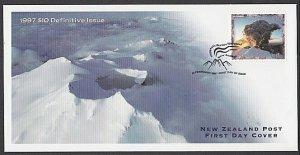 NEW ZEALAND 1997 $10 Mt Ruapehu eruption FDC................................L509