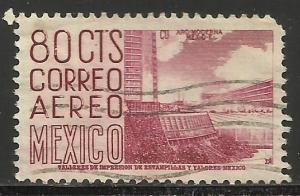 Mexico Air Mail 1952 Scott# C194 Used (corner)