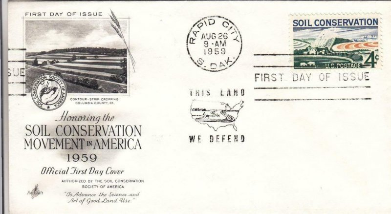 1959, Honoring Soil Conservation Movement in America, Artcraft, FDC (D13998)