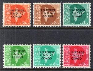 India M56-M61 MNH VF