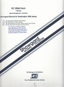 SHOWGARD BLACK MOUNTS DC 2006 PACK (4) RETAIL PRICE $7.95