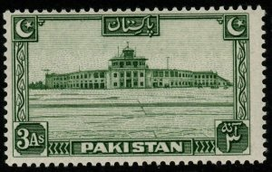 PAKISTAN SG31 1948 3a GREEN MNH