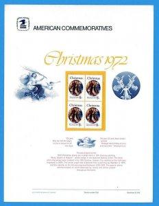 USPS COMMEMORATIVE PANEL #6 CHRISTMAS 1972 #1471