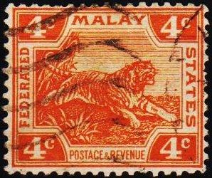 Malaya(Federated Malay States). 1900 4c S.G.60 Fine Used