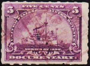 U.S.A. 1898 5c(Documentary) Fine Used