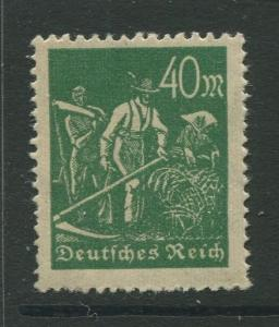 Germany -Scott 227 - Definitive Issues -1922 -  MH - Wmk 126 - Single 40m Stamp